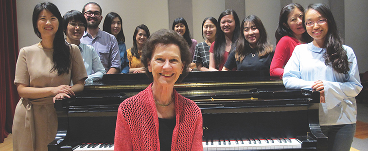 Robin McCabe and students of her piano studio (Photo: Joanne DePue)