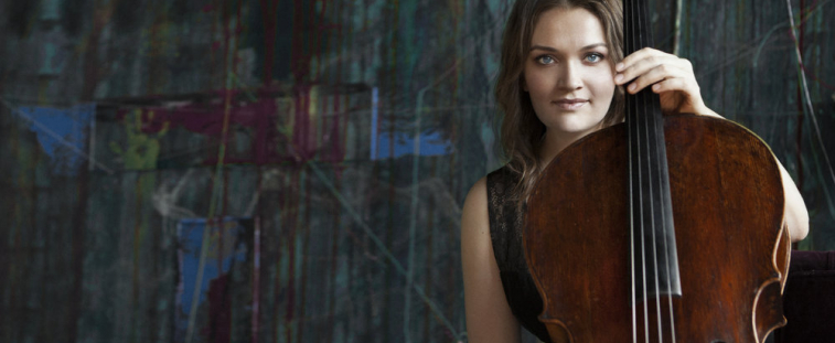 Faculty cellist Saeunn Thorsteinsdottir performs at Meany Theater on Oct. 16 (Photo courtesy the artist).