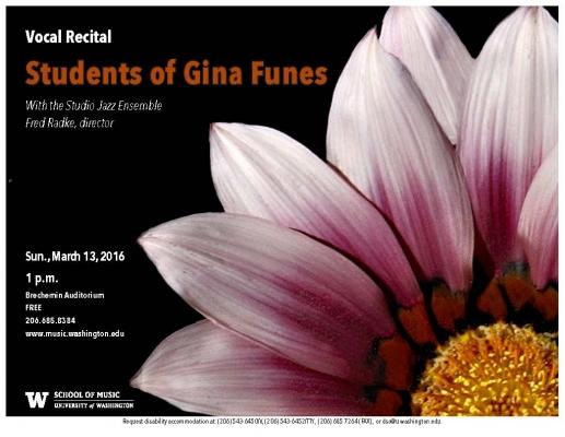 Flyer image for Gina Funes studio recital