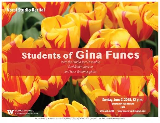 Gina Funes studio flyer image