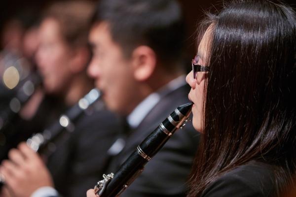 Members of the UW Wind Ensemble perform on Oct. 29 (Photo: Steve Korn).
