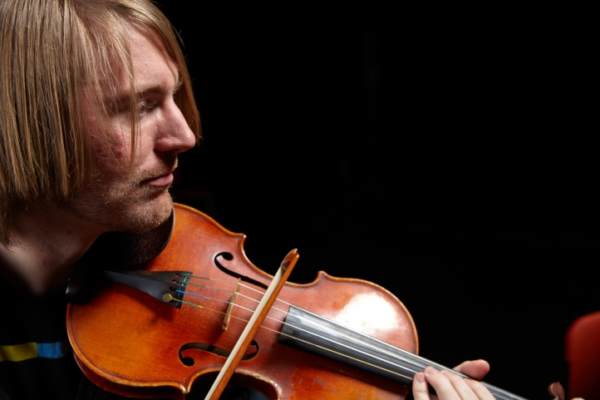 UW violinist Luke Fitzpatrick (photo: Steve Korn)