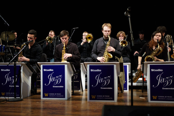 image of UW jazz band