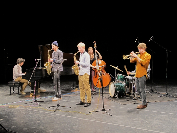 Butter, the UW's jazz scholarship group, performs at Brechemin Auditorium on Feb. 20.