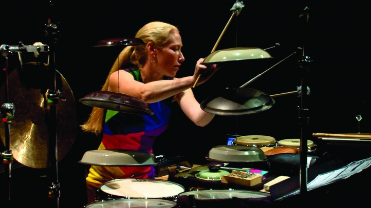 Percussionist Bonnie Whiting
