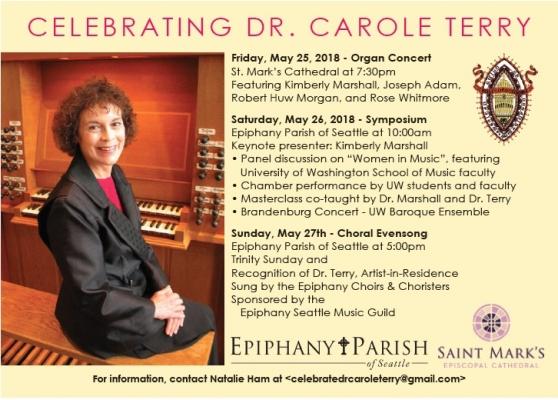 Carole Terry Festival schedule