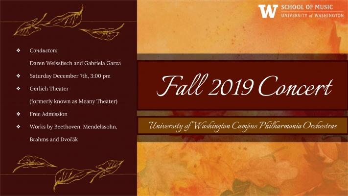 Campus Philharmonia Fall concert flyer