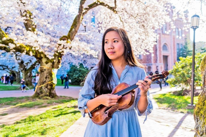Violinist and UW Music alumna Emilie Choi Photo: Alice Ouyang.