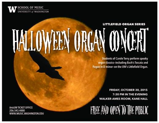 Halloween Organ concert flyer image