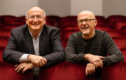 Geoffrey Boers with Stephen Stubbs (photo: ISAIAH BROOKSHIRE)