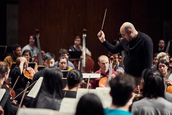 David Alexander Rahbee conducts the UW Symphony Orchestra (Photo: Steve Korn)