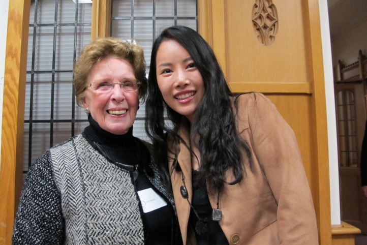 The late Patti Marsh with one of her scholarship students, Jae-in Shin.