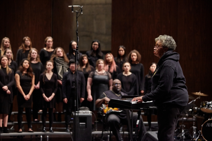Phyllis Byrdwell directs the UW Gospel Choir (Photo: Steve Korn)