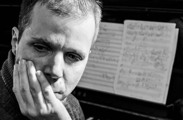 Faculty composer Huck Hodge (Photo: Dennis R. Wise).
