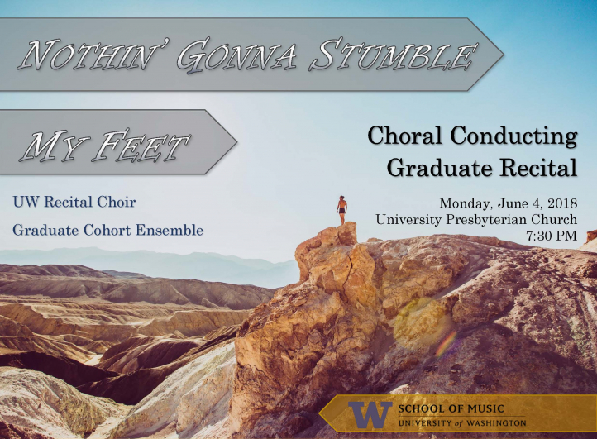 Choral Conducting recital poster