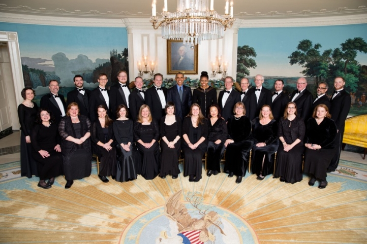 Seattle-based Choral Arts performed at the White House over the winter holidays (Photo courtesy the White House)