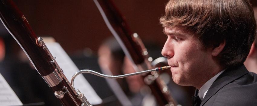Wind Ensemble bassoonist