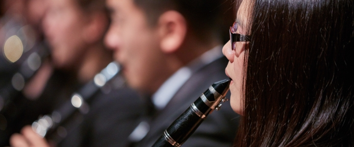 Members of the UW Wind Ensemble perform on Oct. 29 (Photo: Steve Korn).