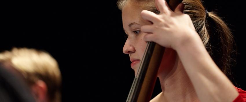 Jazz student bassist (Photo: Steve Korn).