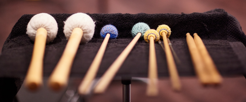 Percussion mallet details (photo: Steve Korn).