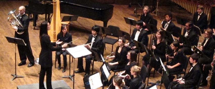 Band conducting at the University of Washington.