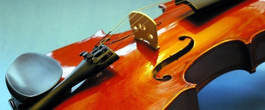 Blue violin image