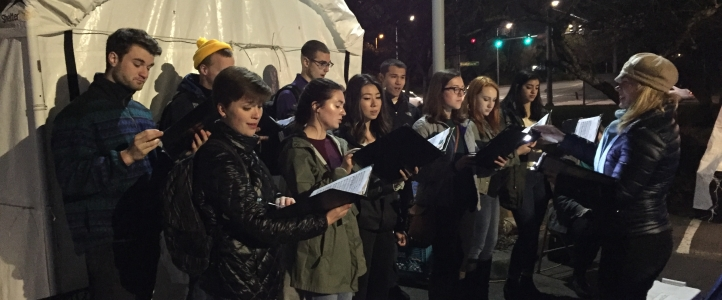 University Chorale performs at Tent City 3