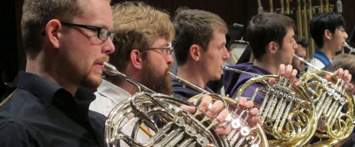 Students playing French Horn