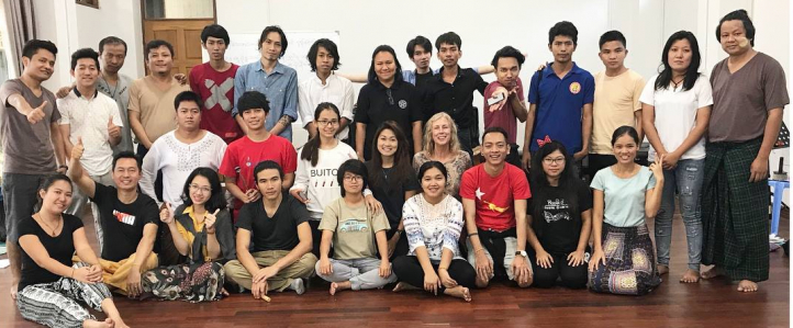 Teaching artists in Myanmar