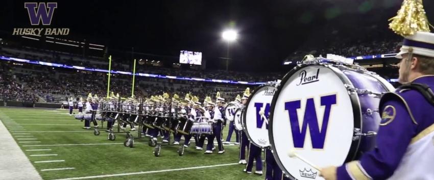 UW Marching Band Husky Drumline