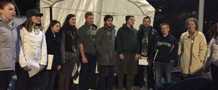 University Chorale performs at Tent City 3 - UW Music