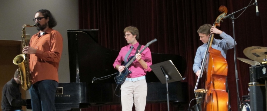 Small jazz ensembles perform in Brechemin Auditorium