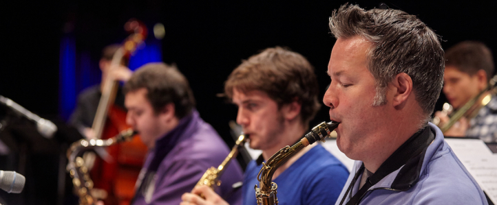 Stuart MacDonald performs with the UW Big Band