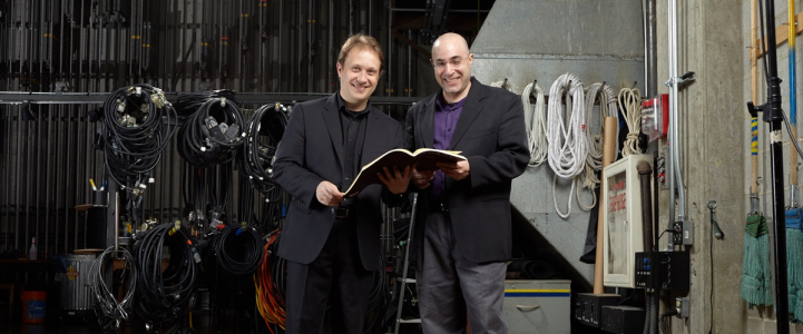 Seattle Symphony Music Director Ludovic Morlot and UW Symphony director David Alexander Rahbee (photo: Steve Korn)