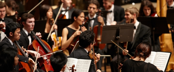 Students in the UW Symphony Orchestra (Photo: Steve Korn)
