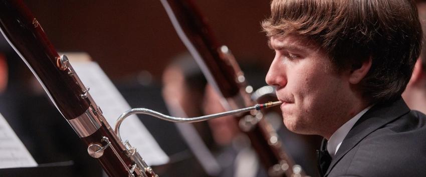 UW Symphonic Band, bassoon (photo: Steve Korn)