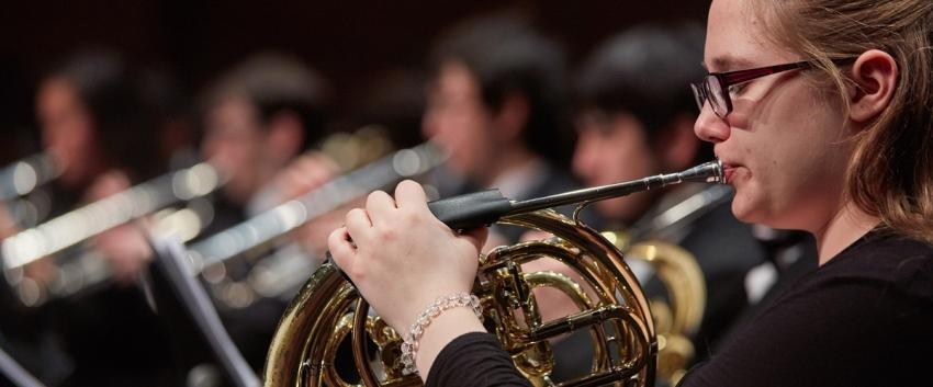 UW Symphonic Band, French Horn (photo: Steve Korn)