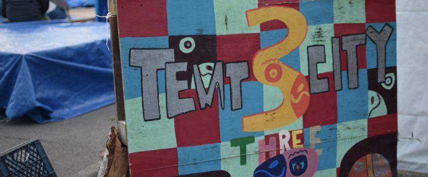 Tent City 3 Sign