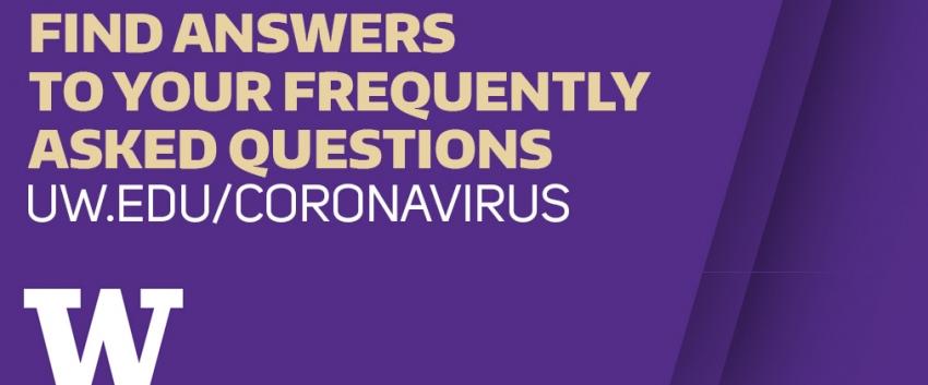 Coronavirus FAQ graphic