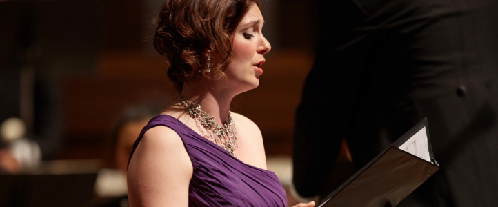 UW Voice students perform quarterly studio recitals.
