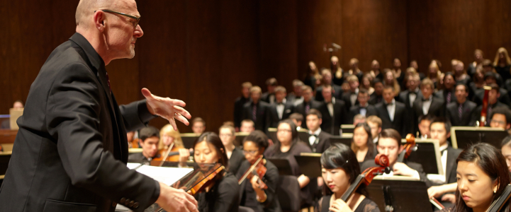 Geoffrey Boers, UW Symphony and Combined Choirs