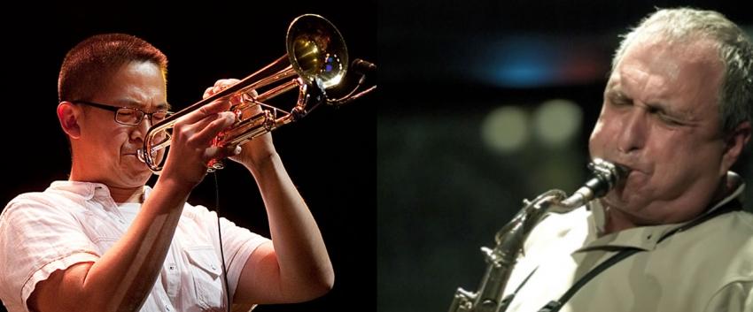 Cuong Vu and George Garzone (Photo: Courtesy Earshot Jazz).