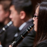 Members of the UW Wind Ensemble perform on Oct. 23 (Photo: Steve Korn).