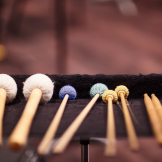 Percussion mallet details (photo: Steve Korn).