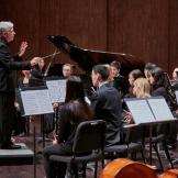 Timothy Salzman conducts the UW Wind Ensemble on Dec. 8