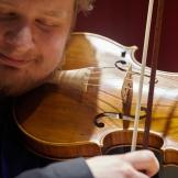 Corentin Pokorny performs with the UW Baroque Ensemble