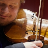 Corentin Pokorny performs with the UW Baroque Ensemble