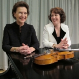 Robin McCabe, piano, and Maria Larionoff, violin, are the Beethoven Project.