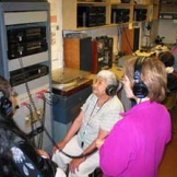 Students listening to recordings in the Ethno Archives