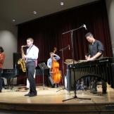 Students in the Jazz Workshop perform in Brechemin Auditorium.